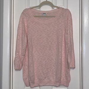 Old Navy lightweight pink sweater pullover XL